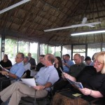 Faculty members met in the palapa, an open-air room with a thatched roof, to give and attend presentations on cultural identity, sustainable tourism and global perspective, among other topics.