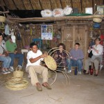 Faculty were taught how to weave baskets by their Mayan hosts.